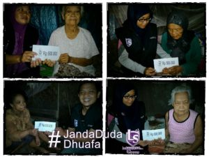 LS Semarang: Menyantuni Target Tetap Janda dhuafa di Demak