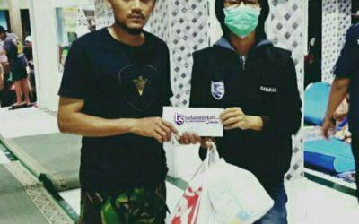 LS Jakarta : Eksekusi Sedekah kepada Bapak Ridwan Hidayatullah dan Muhammad Febri Ramadhan korban kebakaran di wilayah Kelurahan Tomang, Jakarta Barat ( Selasa, 22 Januari 2019 )