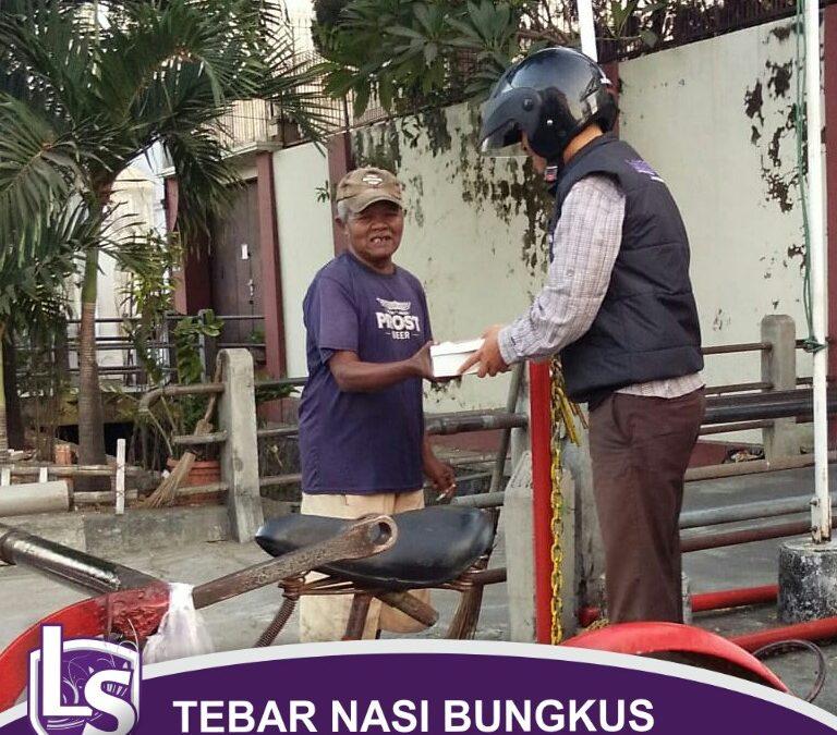 Tebar Nasi Bungkus Bersama LS Surakarta