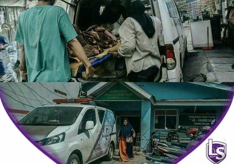 LS Jakarta : Ambulance Gratis untuk Nenek Rolia (-+94 tahun) untuk berobat ke Pengobatan Patah Tulang, Taman Kota, Jakarta Barat | Ahad, 17 November 2019