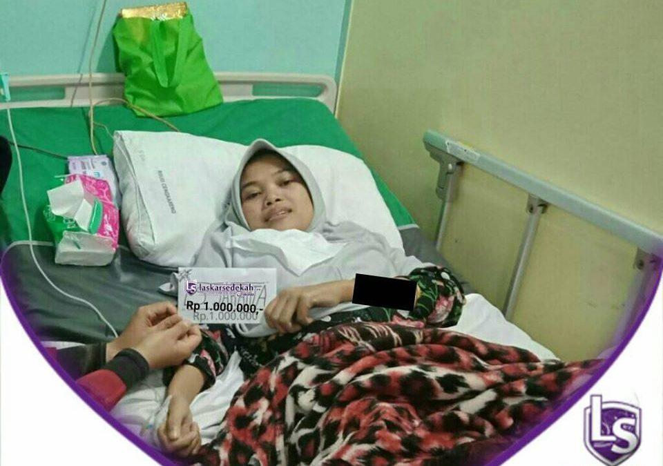 LS Jakarta : Eksekusi Sedekah – Santunan Orang Sakit untuk Mba Solihah (27 tahun) yang sedang dirawat di RSUD Cengkareng, Jakarta Barat | Ahad, 15 Desember 2019