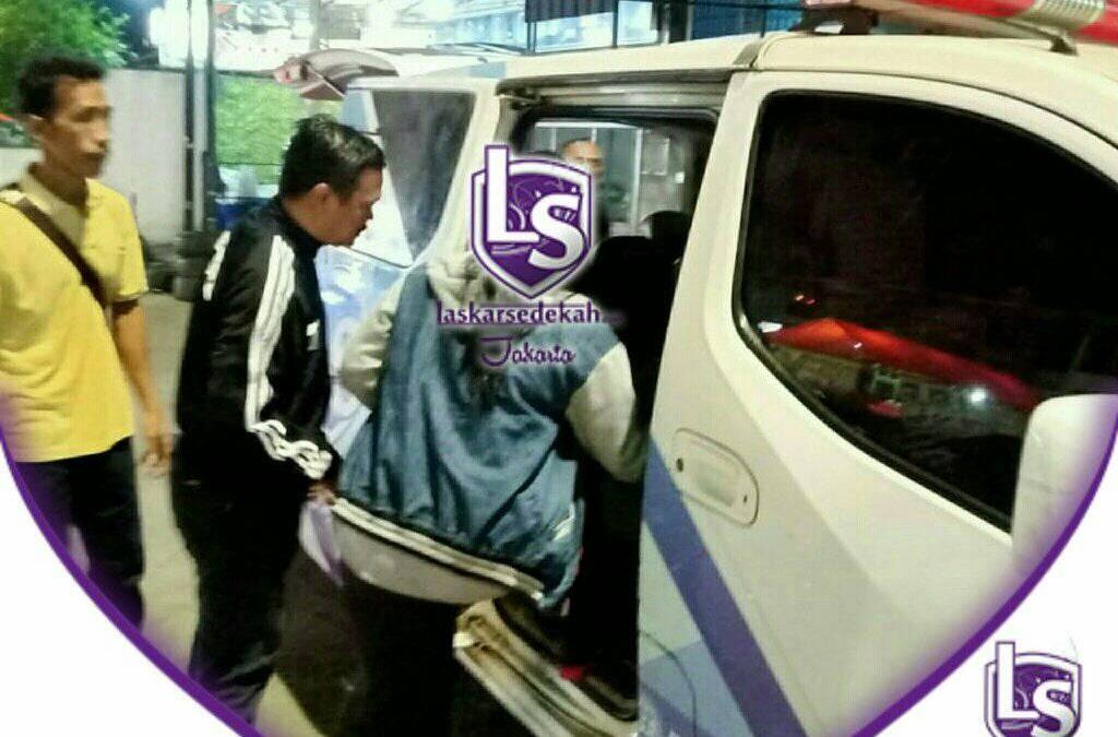 LS Jakarta : Ambulance Gratis untuk Mba Agnes (24th) dari rumahnya di daerah Kp. Gusti, Pejagalan, Jakarta Utara ke Pengobatan Alternatif di daerah Sepatan, Tangerang | Senin, 27 Juli 2020