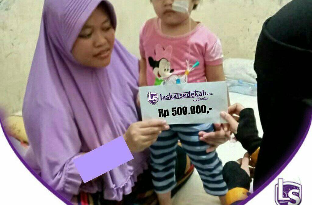 LS Jakarta : Eksekusi Sedekah – Santunan Orang Sakit untuk Dek Kaila (3thn) menderita GERD (Gangguan pencernaan)