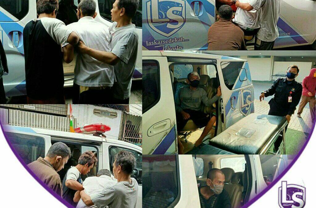 LS Jakarta : Ambulance Gratis untuk Pak Kharsono (50th) menuju RS. Sumber Waras, Jakarta Barat | 11, 24 dan 25 Agustus 2020
