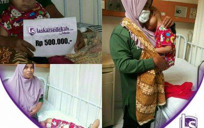 LS Jakarta : Eksekusi Sedekah – Santunan Orang Sakit untuk dek Nurasyfa yang sedang menjalani rawat inap di RSCM, Jakarta Pusat